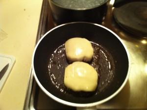 le fromage fondu sur la viande