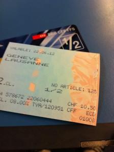 Billet de train Genève Lausanne